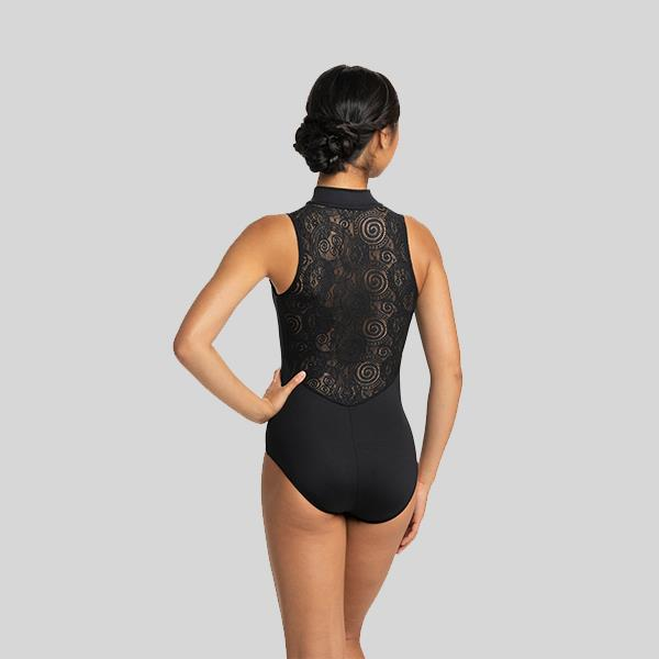 AINSLIEWEAR ZIP FRONT WITH LOLA LACE LEOTARD - ADULT #1062LL