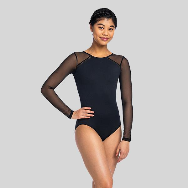 AINSLIEWEAR MARCELLA WITH MESH LEOTARD - ADULT #177ME