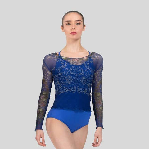 BALLET ROSA BROOK PRINTED LONG SLEEVE TOP - ADULT #1029TLA