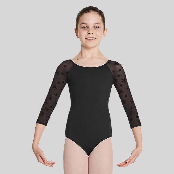 BLOCH NALAIA MESH LONG SLEEVE LEOTARD - CHILD #CL8716