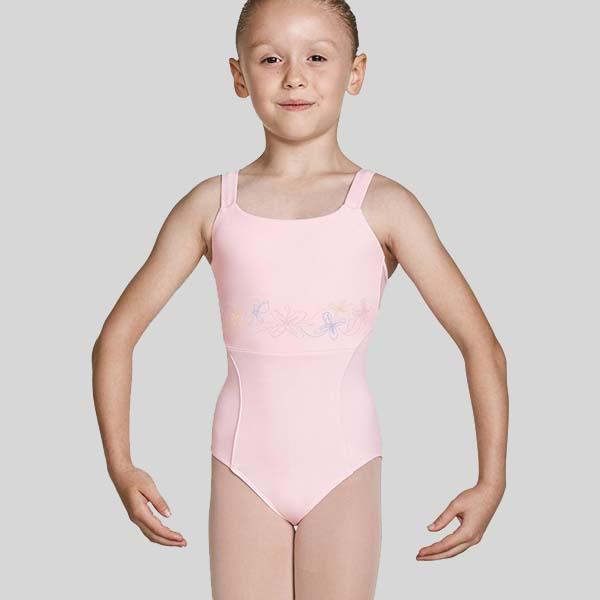 MIRELLA OPEN BACK CAMISOLE LEOTARD - CHILD #M1228C