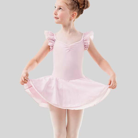 SANSHA RUFFLE SLEEVES TUTU DRESS - CHILD #68AE006