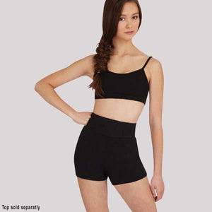 CAPEZIO HIGH WAISTED SHORTS - ADULT #TB131
