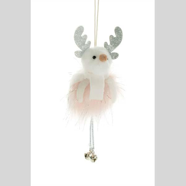 STARLIGHT TRADING HANGING MOOSE ORNAMENT WITH BELL LEGS - #DK0273
