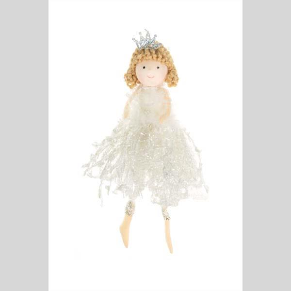 STARLIGHT TRADING HANGING PRINCESS WITH STRING DRESS ORNAMENT - #DK0276