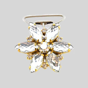 ANTONIO PACELLI CC CRYSTAL FLOWER COMPETITION NUMBER CLIP
