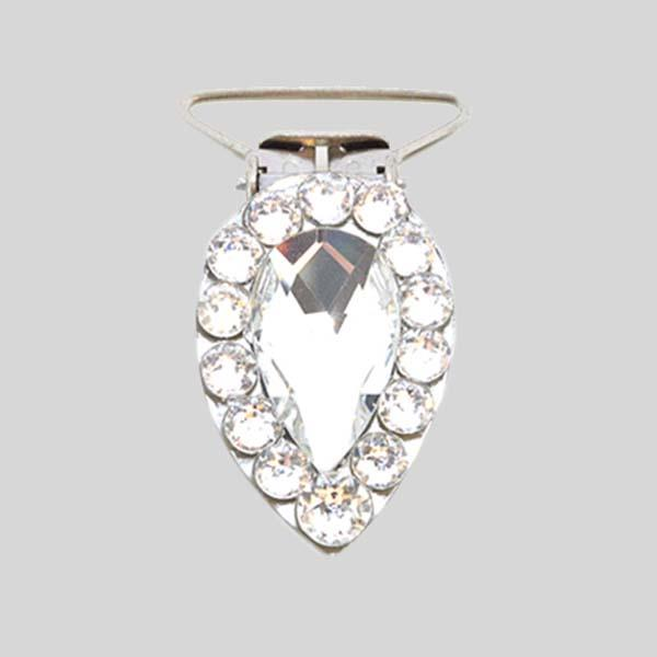 ANTONIO PACELLI CC CRYSTAL PEAR COMPETITION NUMBER CLIP