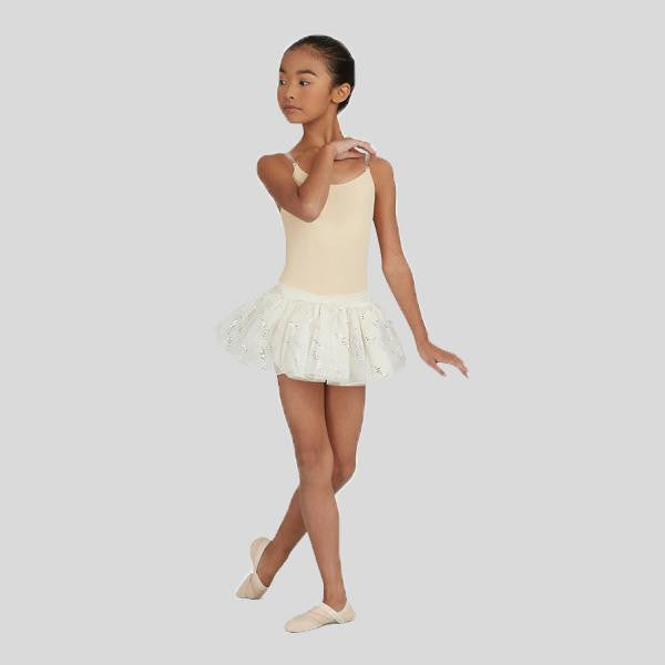 CAPEZIO CAMISOLE LEOTARD W/ CLEAR TRANSITION STRAPS- CHILD #3532C