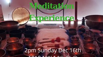Sound Meditation Experience Sunday December 16th