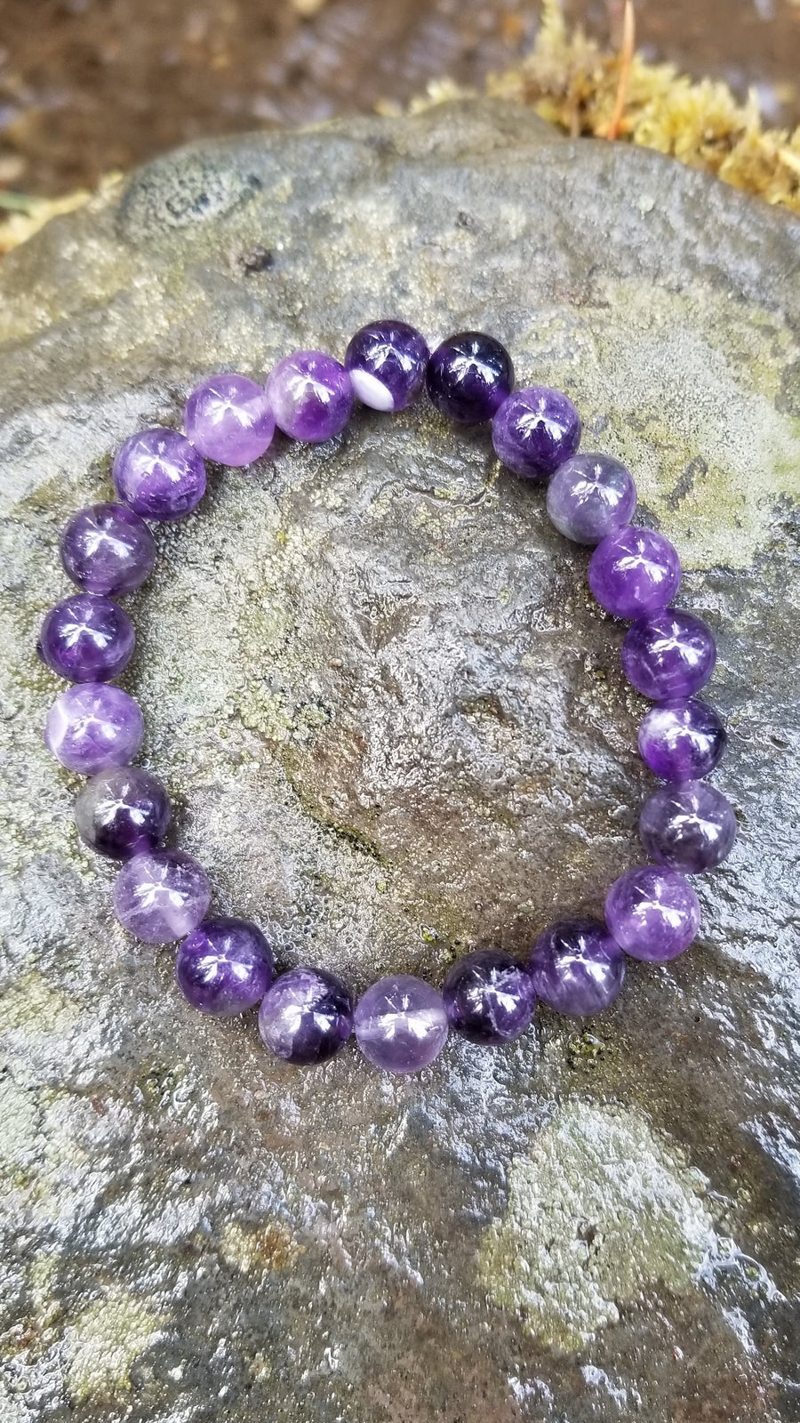 Amethyst 8mm Gemstone Bracelet