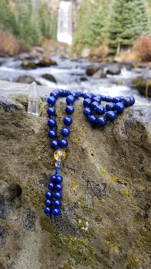 Lapis Lazuli Gemstone Hand Knotted Prayer Mala 108 Beads