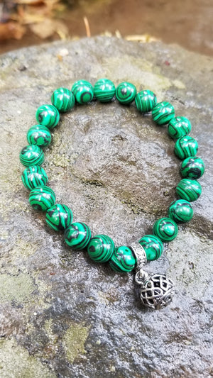 Malachite 8mm Gemstone Bracelet