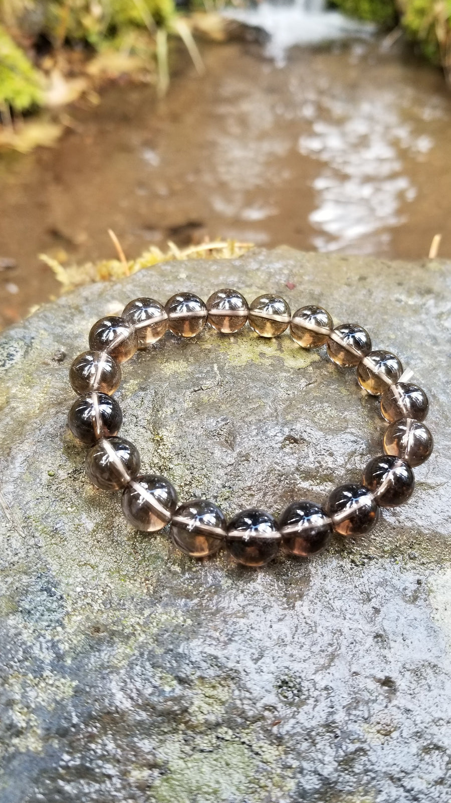 Smokey Quartz 10mm Gemstone Bracelet