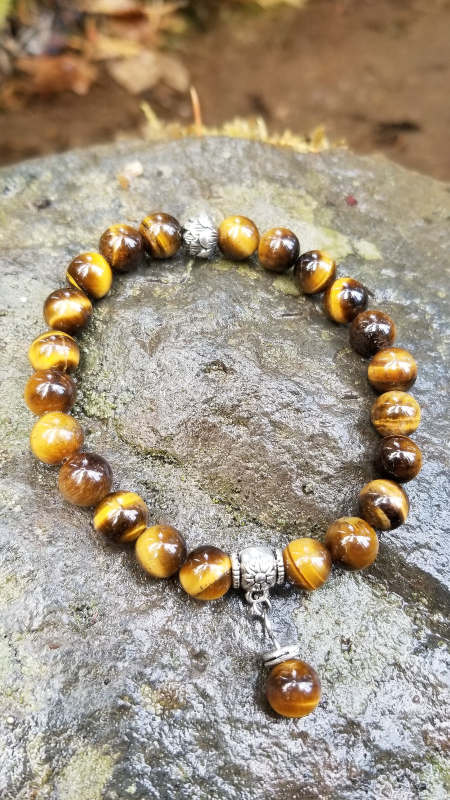 Tigers Eye 8mm Gemstone Bracelet
