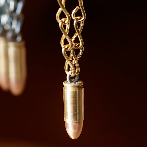 Real 9mm Bullet Christmas Ornaments - Handmade