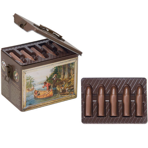Chocolate Bullets in Vintage Collector's Tin