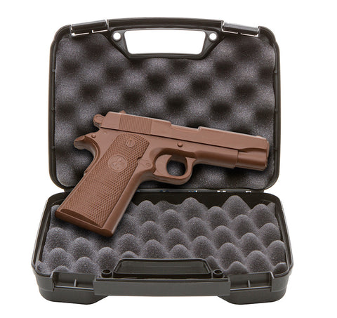 chocolate gun full sized solid milk chocolate 1911 handgun