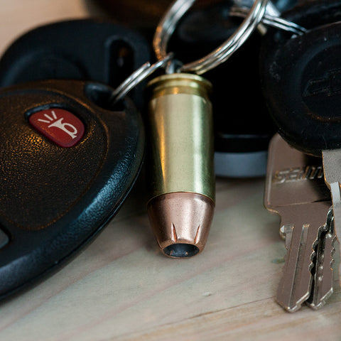.45 ACP Hollow-point Bullet Key Chains - Handmade