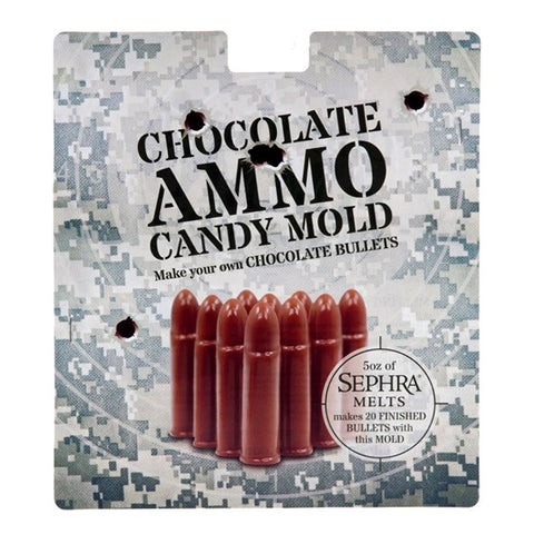 Chocolate Ammo Bullet Mold - Make Your Own Bullets