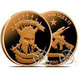 ΜΟΛΩΝ ΛΑΒΕ - Molon Labe Pure .999 Solid Copper Round Coin