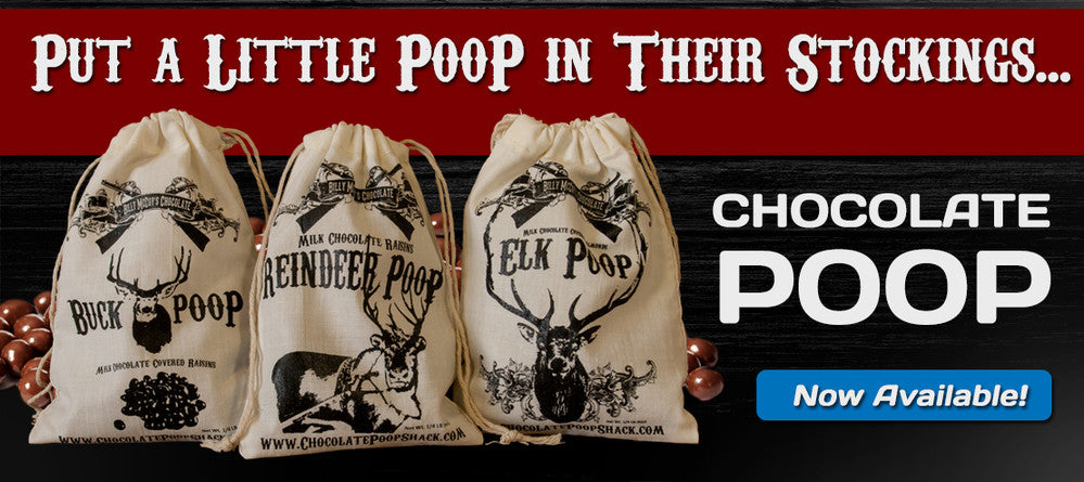 Chocolate Reindeer Poop, Buck Poop, Elk Poop and Sasquatch Poop