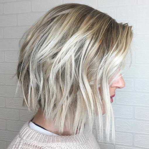 long layered ombre bob