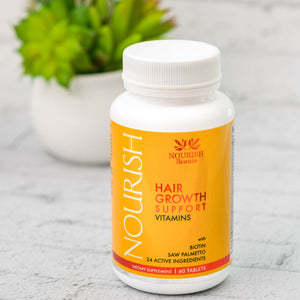 Hair Growth Support Vitamins with Biotin and Saw Palmetto