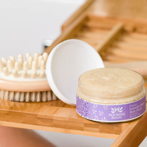 Organic Lavender Sugar Body Scrub with Coconut