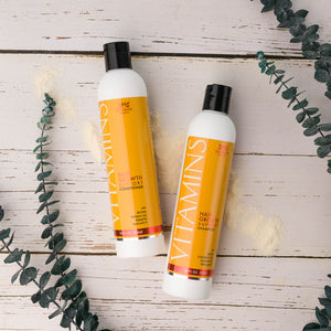 Vitamins Hair Growth Support Shampoo and Conditioner with Biotin