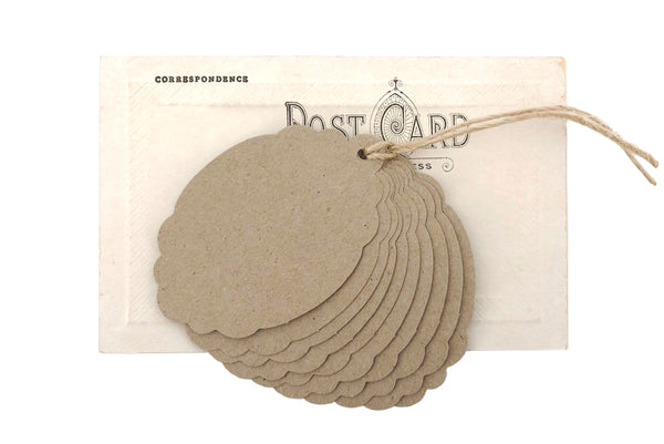 Brown Scallop Tags