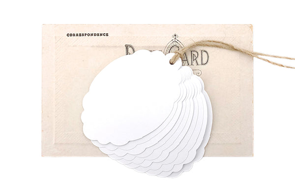 White Scallop Tags
