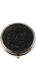 Black Enamel Pillbox