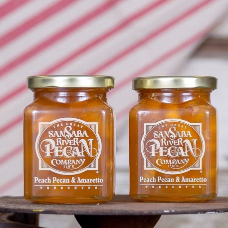 The Great San Saba River Pecan Company Peach Pecan & Amaretto Preserves
