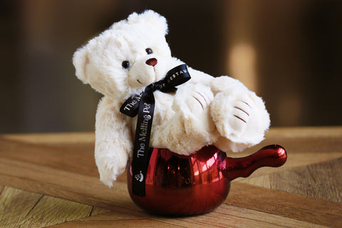 Bobby Bear Sitting on Red Mule Mug
