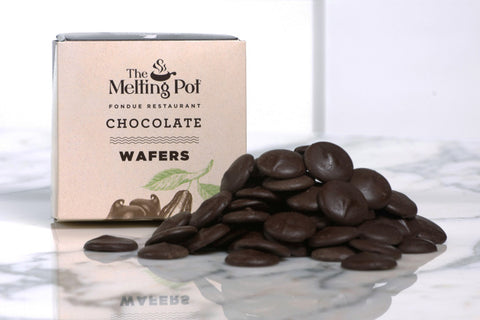 Dark Chocolate Wafers on Table