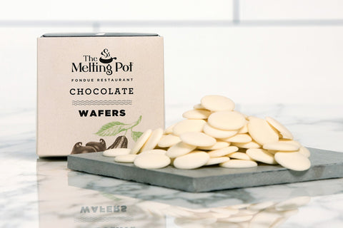 White Chocolate Wafers on Table
