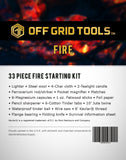 OGT Fire - 33 Piece Fire Starting Kit