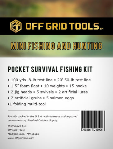 OGT Fishing & Hunting Mini - Pocket Survival Fishing Kit