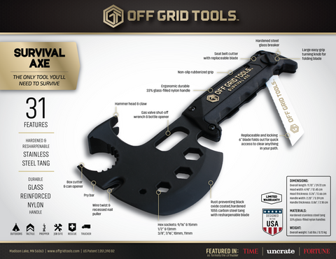 OGT Survival Axe – Off Grid Tools