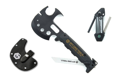 OGT Survival Axe Bundle w/ Leather Sheath + Survival Companion
