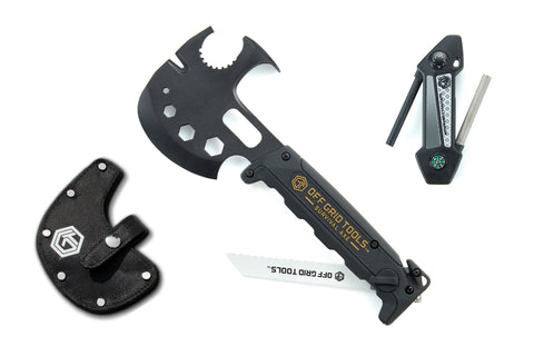 OGT Survival Axe Bundle w/ Nylon Sheath + Survival Companion