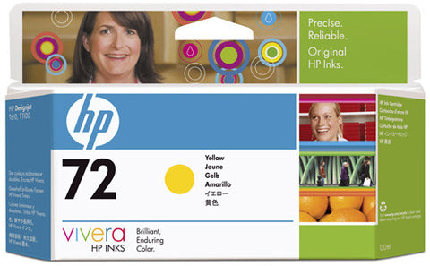 HP 72 130-ml Yellow Ink Cartridge (C9373A)