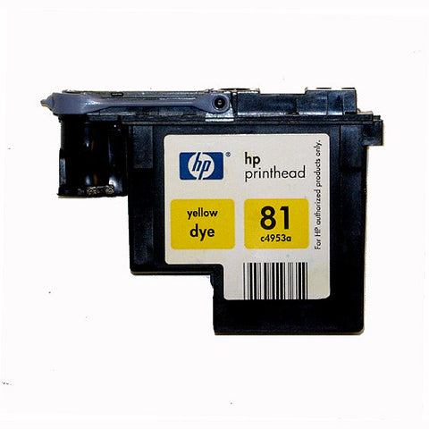 HP 81 Designjet 5000 5500 Dye Yellow Print Head C4953A-R