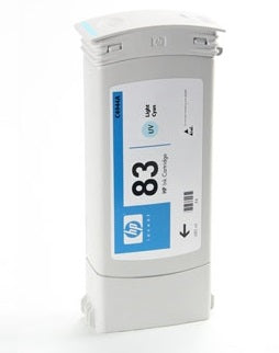 C4944A HP 83 Light Cyan Ink PARTIALLY USED OEM