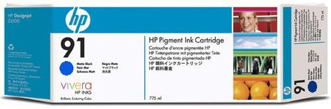 HP 91 Cyan Ink Cartridge (C9467A) PARTIALLY USED