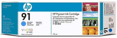 HP 91 Light Cyan Ink Cartridge (C9470A) PARTIALLY USED