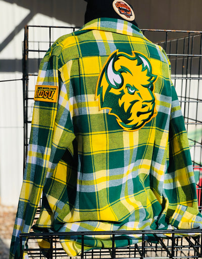 NDSU Bison Flannel Officially Licensed By Angry Minnow Vintage