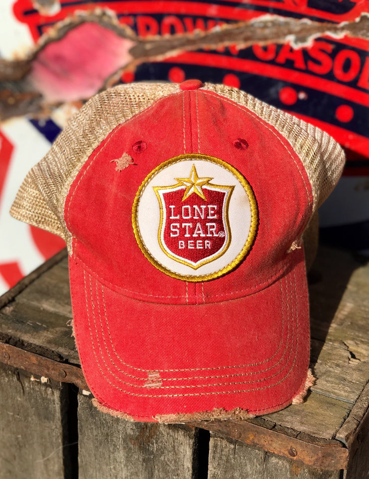 Lone Star Beer Distressed Baseball Cap
