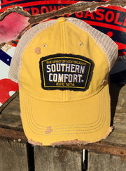 Southern Comfort Hat- Distressed Yellow Snapback