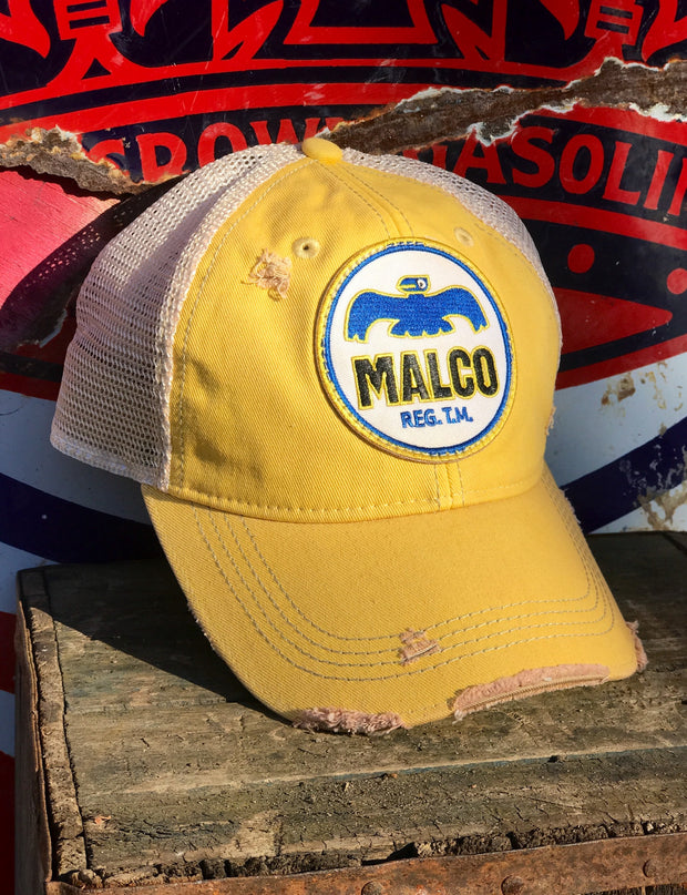 Malco Vintage Gasoline Distressed Ball Cap